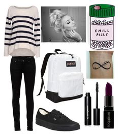 """Untitled #18"" by nutellaoreochocolate ❤ liked on Polyvore featuring Velvet by Graham & Spencer, Yves Saint Laurent, Vans, JanSport, Smashbox, Bobbi Brown Cosmetics, women's clothing, women, female and woman"