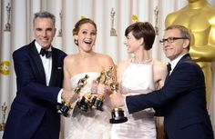Daniel Day-Lewis, Anne Hathaway, Christoph Waltz and Jennifer Lawrence. THIS MAKES ME HAPPY.