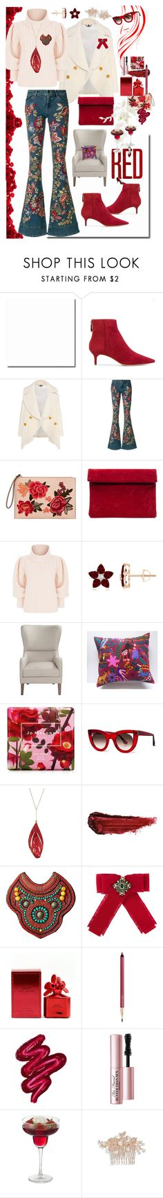 """Choose Joy🌺🌹🌸"" by bm-bojanamilanovic ❤ liked on Polyvore featuring Alexandre Birman, Burberry, Alice + Olivia, MANGO, Temperley London, Jo Malone, Thierry Lasry, Aurélie Bidermann, By Terry and Gucci"