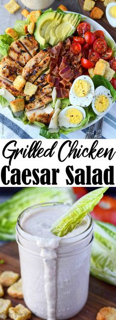 Grilled Chicken Caesar Salad, Grilled Chicken Tenders, Salad Recipes, Healthy Recipes, Healthy Salads, Hard Boiled, Boiled Eggs, Bowl Recipe, Pizza