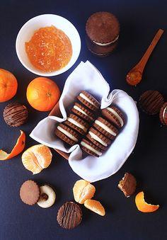 Alfajores de chocolate y naranja Le Cordon Bleu, Galletas Cookies, Pie, Sugar, Desserts, Food, Desert Recipes, Food Cakes, Home Made