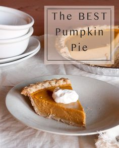 This is the best Pumpkin Pie ever, seriously! Make it for EAster, Thanksgiving, and Christmas. Anytime you want delicious pie! Thanksgiving Desserts, Fall Desserts, Christmas Desserts, Dessert Recipes, Best Pumpkin Pie Recipe, Pumpkin Recipes, Cheesecake Brownie Bars, It's The Great Pumpkin, Homemade Pie