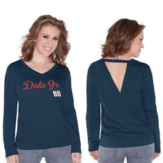 Dale Earnhardt Jr. Touch by Alyssa Milano Womens Lana V-Neck Sweatshirt – Blue