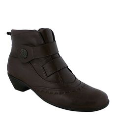 Love this Walking Cradles Brown New Softee Leather Bootie by Walking Cradles on #zulily! #zulilyfinds