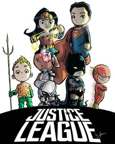 A poster of Justice League movie, with my style. That one makes me very proud of my work and studies style. Please, let me know what you think about that, leave a comment here. Dc Heroes, Comic Book Heroes, Comic Books Art, Comic Art, Arte Dc Comics, Dc Comics Art, Justice League, Chibi, Comic Character