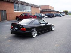 BMW e36 coupe on cult classic BBS RS wheels