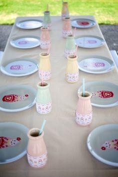 Table, bottles