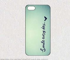 smile every dayiphone case iphone 4/4S case iphone 5 by lafang, $6.89
