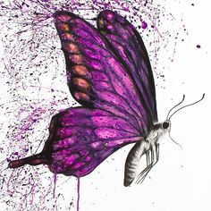Song of a butterfly painting by ashvin harrison saatchi art Butterfly Canvas, Butterfly Painting, Butterfly Watercolor, Butterfly Wallpaper, Watercolor Paintings, Butterfly Artwork, Butterfly Drawing, Pink Butterfly, Butterfly Wings