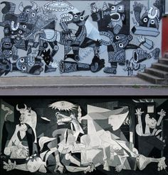 a1one after Picasso's 'Guernica' ekostystem.org : great collection of street art