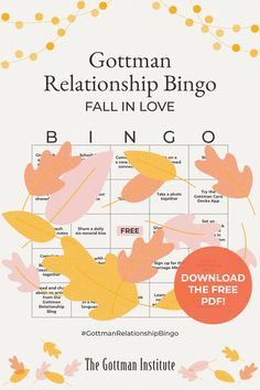 Rituals of connection are routine moments of joy and affection you share with your partner. This could be a daily chat on the phone, an evening walk together, or another activity you both enjoy. Add new rituals to your romance this fall by playing Gottman Relationship Bingo, available to our Love Notes newsletter subscribers. Sign up for Love Notes and start playing today. Relationships Are Hard, How To Improve Relationship, Gottman Method, Gottman Institute, John Gottman, Being Good, Love Others, Love Can, How To Take Photos