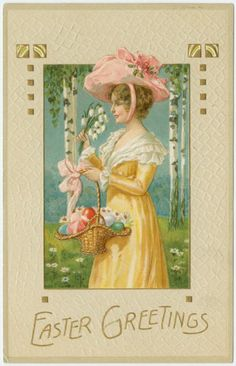 Lady in a Victorian Easter Hat