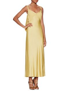 Crepe Cascade Back Slip Dress by Jason Wu at Gilt