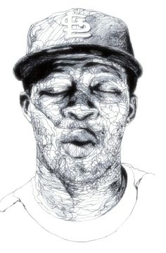 Ink draw- Kris Trappeniers - totally mind blowing continuous line Ap Drawing, Contour Drawing, Kris Trappeniers, Elements Of Art Line, Stippling Art, Scribble Art, Hip Hop Art, Amazing Drawings, Portrait Art