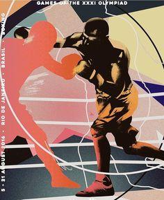 ILoveDust olympics boxing illustration