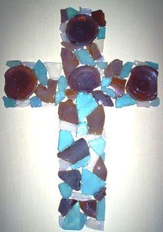 Cross, Sea glass