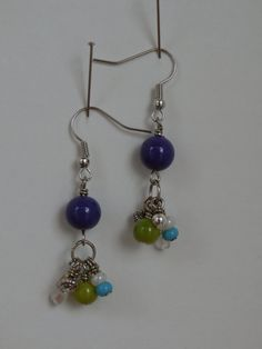 Fun N Funky Purple Earrings by TweetySweetyCrafts on Etsy