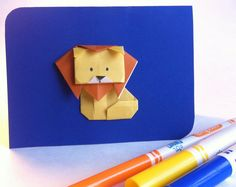 Shop for origami card on Etsy, the place to express your creativity through the buying and selling of handmade and vintage goods. Origami Cards, White Envelopes, Blue Backgrounds, Something To Do, Card Making, Greeting Cards, Etsy, How To Make, Handmade