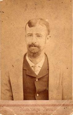 Hutchings Bros. RAILROAD PHOTO. CAR. Possibly Charles Otho, ca. 1887