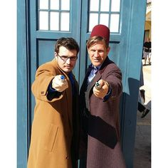 Pin for Later: 26 Wonderful Doctor Who Costume Ideas For Whovians Ten and Eleven These two totally nail the looks!
