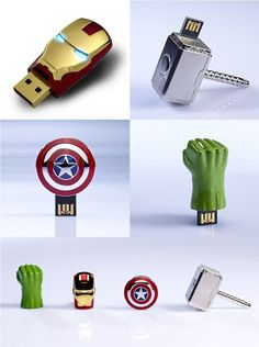 The Avengers USB sticks.  I need the Thor Hammer!