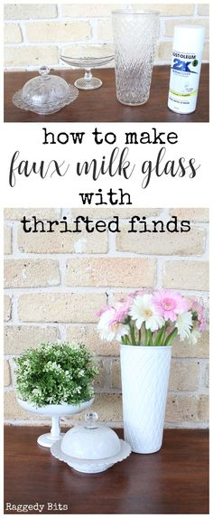 How to make Faux Milk Glass with Thrifted Finds- Having troubles finding Milk Glass like me? Sharing how to make Faux Milk Glass with Thrifted Finds Crafts For Teens To Make, Crafts To Sell, Diy And Crafts, Swiffer Pads, Upcycled Crafts, Repurposed, Decor Crafts, Diy Home Decor, Tree Crafts