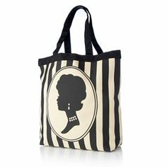 100879 - Lulu Guinness Lily Tote Bag The classic Lulu vertical striped pattern in black and beige with a central design on the front.  QVC Price: £46.53 + P&P: £4.95 http://www.qvcuk.com/Lulu-Guinness-Lily-Tote-Bag.product.100879.html?sc=CommissionJunction&ref=aff&cm_mmc=CJ-_-3507660_-5507647-_-QVC+UK+Product+Catalog&source=100879
