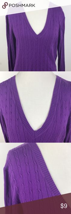 Old Navy Womens Sweater size XL Purple Old Navy Shirt size XL Womens V-Neck Purple Blouse Long Sleeve Knit Top  Armpit to Armpit:19 Length:28 See Pictures For More Details Please Contact Me With Any Questions. Thank You For Looking. Have a Terrific Day! Old Navy Sweaters V-Necks