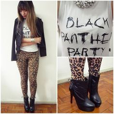 BLACK PANTHER PARTY (by Thais  Chung) http://lookbook.nu/look/3315869-BLACK-PANTHER-PARTY