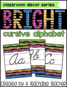 This cursive alphabe