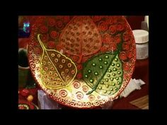 Decoupage. Decorate with skeleton leaves jug and plate. Diy. Handmade - YouTube