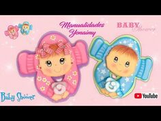 MANUALIDADES YONAIMY Baby Shawer, Princess Peach, Templates, Children, Holiday, Showers, Doll Patterns, Babies, Videos