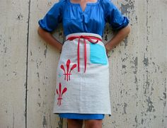 """In honor of the film """"Julie and Julia""""... an apron designed by Sara Smedley."""