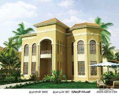 مخطط فيلا خليجى طابقين 367 متر مربع » Arab Arch