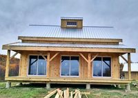 Our Timber Frame Cabin Kits are our most customizable and expandable design. Kits and plans ship free to contiguous 48 states and eastern Canada. Ideas De Cabina, Timber Frame Cabin, Saloon, Cabin In The Woods, Small House Plans, Small Home Kits, Tiny House Kits, Shed To House, 20x30 House Plans
