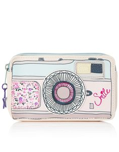Smile You're On Camera Coin Purse - camera, money, passport ... all you need for the trip a way.