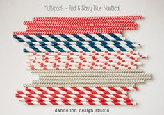 Nautical Paper Straws