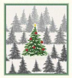 Christmas Tree Cross Stitch Patterns | keywords christmas more designs by marv schier christmas tree farm 99 ...