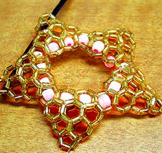 Beaded Star Clip Pattern by Allegra - uses for bugle beads