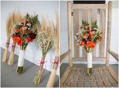 Fall bouquet, Wheat stocks, orange roses, babies breath Fall Wedding | Sam and Stephanie | Beaver Dam Wedding | Charlotte Wedding | Samantha Laffoon Photography