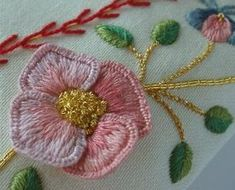 Silk ribbon and 3D embroidery. I would love to do something with these techniques. Gorgeous!!