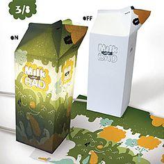 milk carton dieline - Google Search