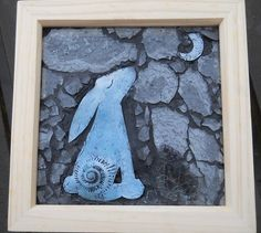 Hare and Moon Mosaic by SilverLoreArtWorks on Etsy