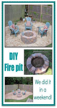 Weekend Project... DIY Fire pit!  www.homeroad.net