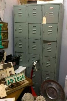 Gym Lockers On Sale  Was $350 Sale Price $280  Vintage Affection Dealer #1680  White Elephant Antiques 1026 N. Riverfront Blvd. Dallas, TX 7...