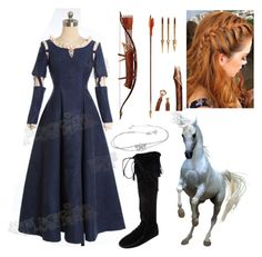 """""""Merida"""" by letycalazans ❤ liked on Polyvore featuring Disney, Minnetonka and merida"""