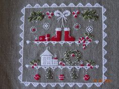 Christmas Sewing, Christmas Embroidery, Christmas Cross, Cross Stitching, Cross Stitch Embroidery, Embroidery Patterns, Cross Stitch Designs, Cross Stitch Patterns, Crochet Cross