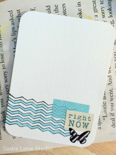 simple project life journaling card.