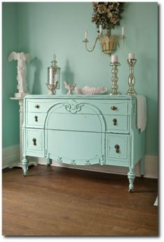 Nautical Hand Painted Antique Dresser with Mirror on Etsy, $475.00 ...