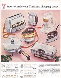 A Fry Pan for Christmas  Vintage Ad Kitchen Art